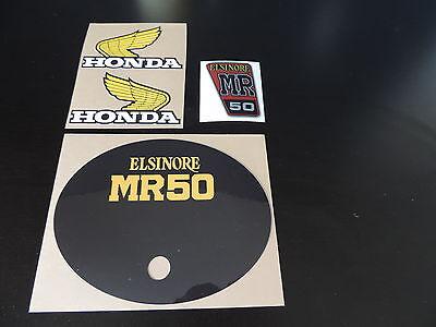 1975 Honda MR50 K1 SIde Plate Decal Vintage Motocross AHRMA