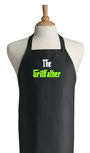 Funny-Black-Barbecue-Aprons-For-Men-The-Grillfather-Fathers-Day-Apron-Ideas