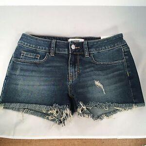 Victoria Secret PINK Authentic Cut Off Blue Jean Shorts Size 2 | eBay