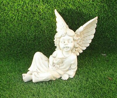Cemetery Memorial Ornament Grave Cherub Angel With Wings