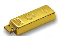 128GB GOLD BULLION BAR NOVELTY USB Flash Drive Memory Stick Office & Work Data