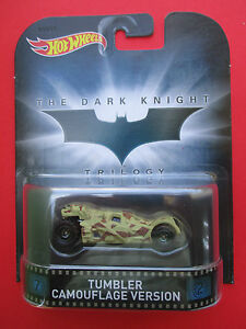 HOTWHEELS-2015-RETRO-ENTERTAINMENT-034-THE-DARK-KNIGHT-034-TUMBLER-CAMOUFLAGE-NEW