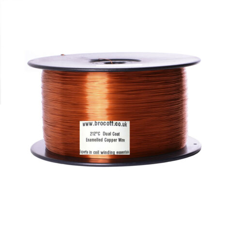 4KG Spool 0.63mm ENAMELLED COPPER WINDING WIRE COIL WIRE 22AWG MAGNET WIRE