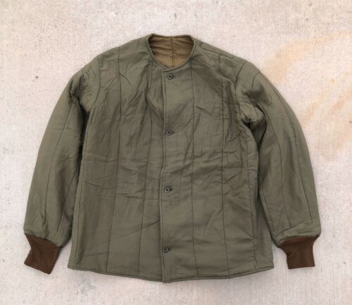 Vintage Military Army Czech Cotton Quilted Liner J