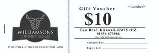 100 Business Gift Vouchers - Black Ink