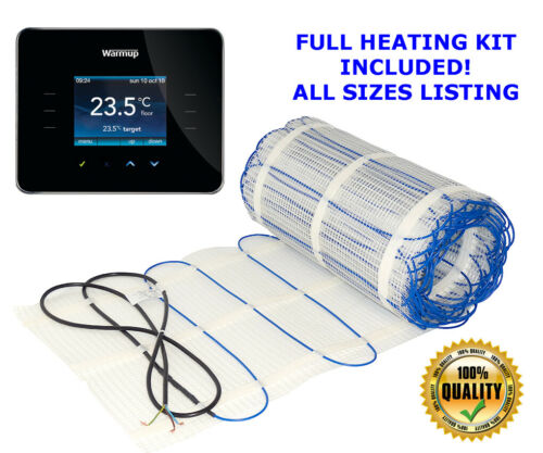 ULTRA Electric underfloor heating mat kit 150W//m2 All Sizes in this Listing