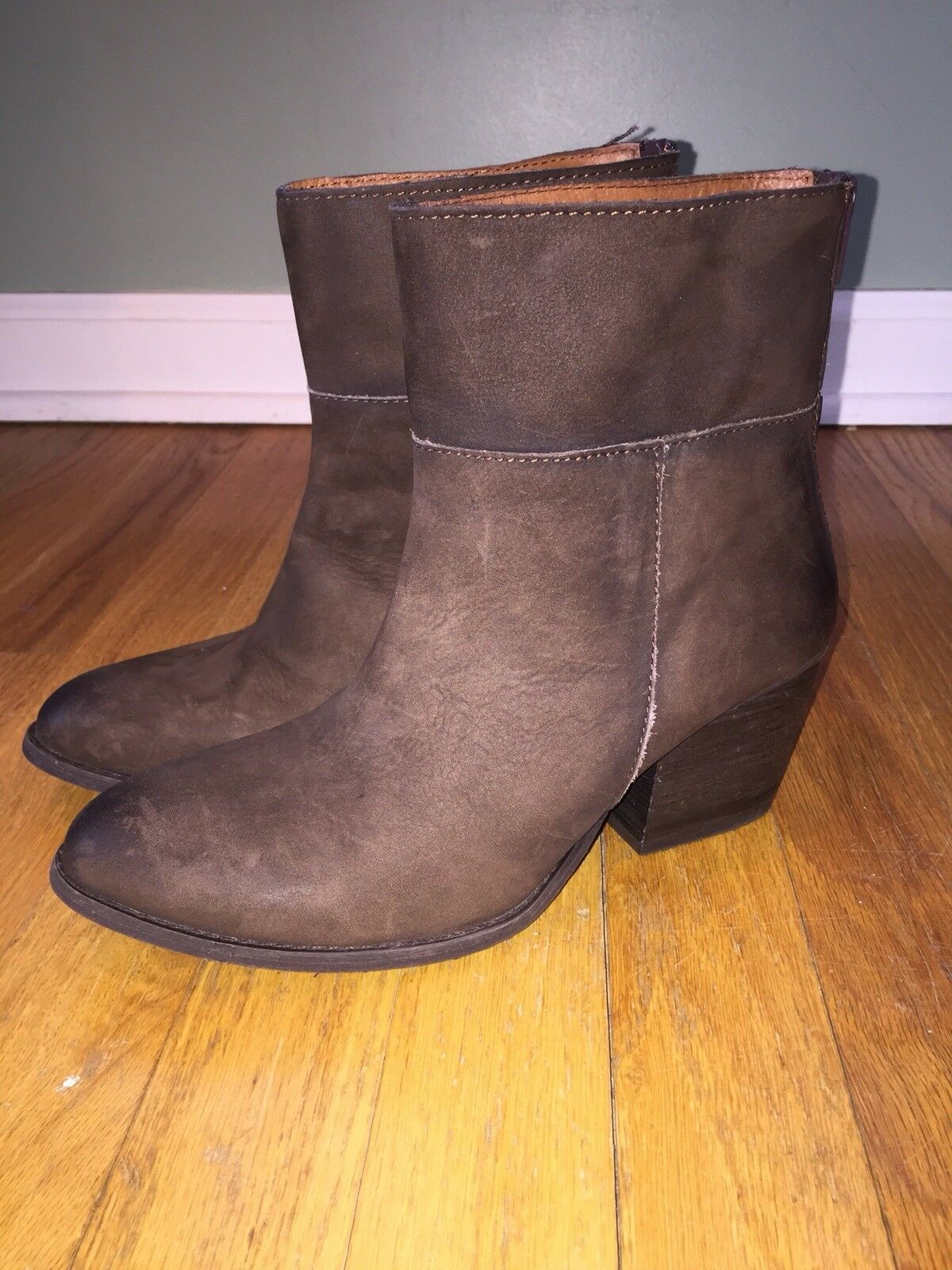 Women's Steve Madden Sandyy Brown Leather Boots 7.5 New In Box