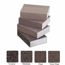 FOAM SANDING BLOCK Wet//Dry Bodywork Extra Fine-Coarse Grit Sandpaper Sponge Pads