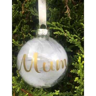 Personalised Bauble Sticker Decal Any Name/Word Christmas  BUY 1 GET 1 FREE
