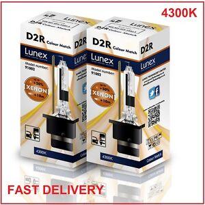 2-X-D2R-Bombilla-de-xenon-4300K-HID-Lunex-genuina-Compatible-con-85126-66050-66250