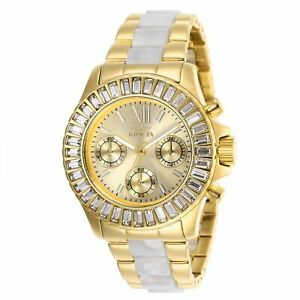 Invicta-Women-039-s-Angel-27299-38mm-Gold-Dial-Chronograph-Watch