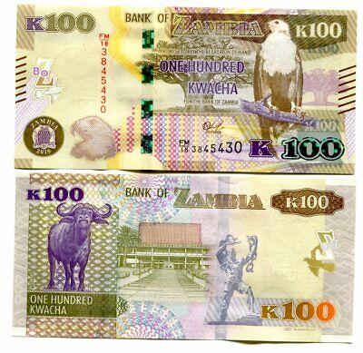 Zambia 100 Kwacha p-61 2018 UNC Banknote