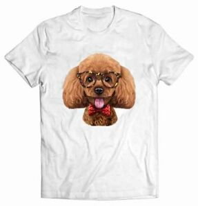 Playful-Poodle-Dog-in-Classic-Eyeglass-and-Bow-Tie-T-Shirt-Fox-Republic-Tee