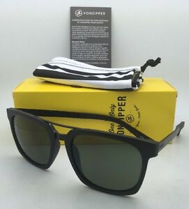 778508316a8ac Image is loading New-VONZIPPER-Sunglasses-VZ-PLIMPTON-Black-Satin-Frames-