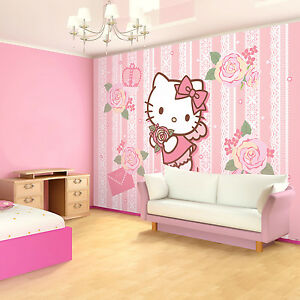 Photo Wallpaper HELLO KITTY GIRLS ROOM Wall Mural 1815VE eBay