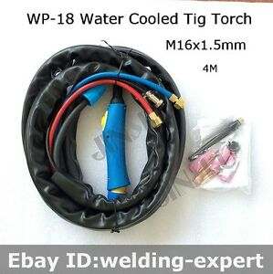 WP-18 TIG Welding torch Water Cooled Power Cable Hose 25 Foot 5//8-18 /& M16*1.5