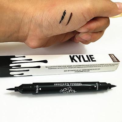 Kylie Jenner Eyeliner Black + Brown 2 in 1 Liquid Pencil Double Eyeliner