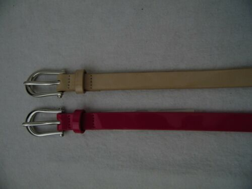 Blush Silver Tone Buckle Medium #809 Style /& Co SC851 2 For 1 Skinny Belts Pink