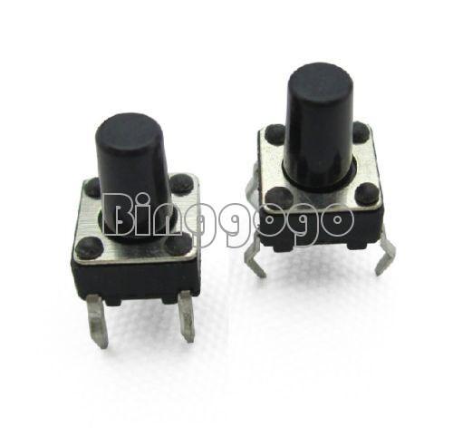 50pcs 6x6x9mm Tactile Push Button Switch Tact Switch 4-pin DIP-4 NEW