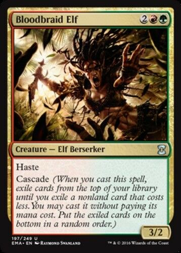 Foil NM-Mint 1x Bloodbraid Elf English Eternal Masters MTG Magic