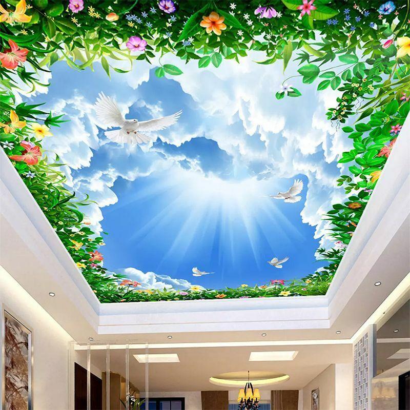 Home Ceiling Mural Creative Wallpapers For Home Bedroom Living Room 3d Wallpaper Ebay
