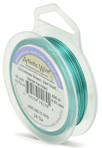 Various Colours 24 gauge 0.51mm Silver Plated Beadalon Artistic Wire