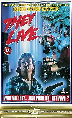 1988 THEY LIVE Movie Silk Canvas Poster 12x18 32x48 inches