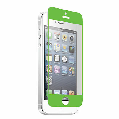 Premium Green Iphone 5 5c 5s Tempered Glass Screen Protector Oleophobic +
