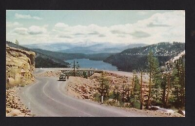 1939 Vintage 76 Union Oil Donner Pass Lake Sierra Nevada Mts California Postcard Ebay