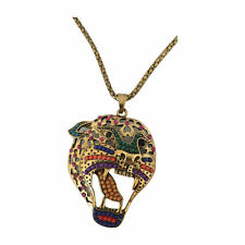 BellaMira Leopard Pendant Retro Vintage Gold Animal Necklace Unisex Jewellery