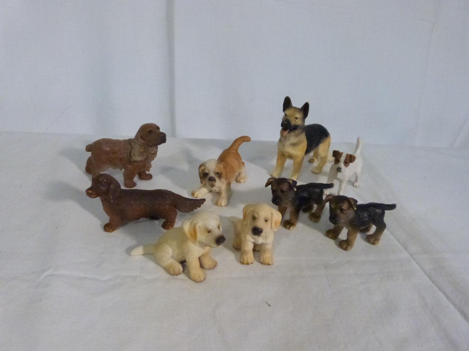 9 Teiliges Konvolut Schleich Hunde 2000er Jahre   Spielzeug   Figuren   Tiere
