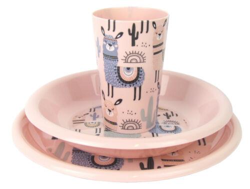 Kindergeschirr-Set mit Tellern und Trinkbecher 3-teilig /'LAMA/' Kinderset
