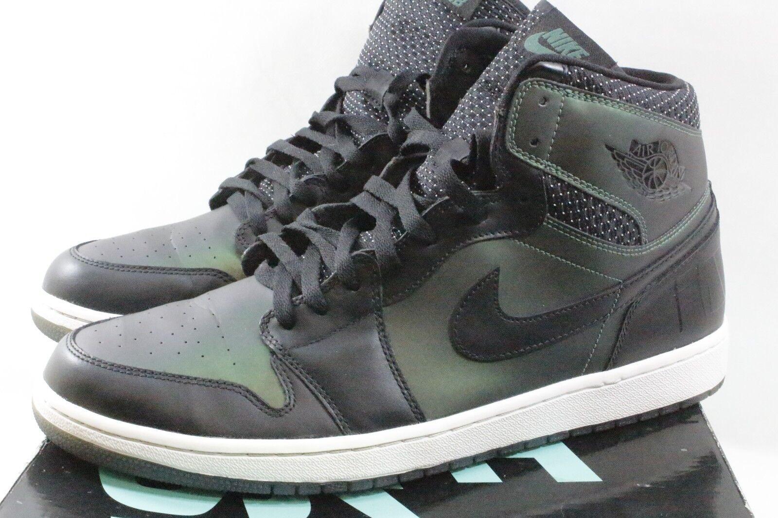 Nike Mens Jordan 1 SB QS Black Black-Silver 653532-001 Size 14