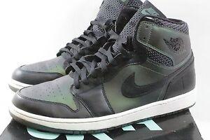 ad3f7b8c1a Nike Mens Jordan 1 SB QS Black Black-Silver 653532-001 Size 14