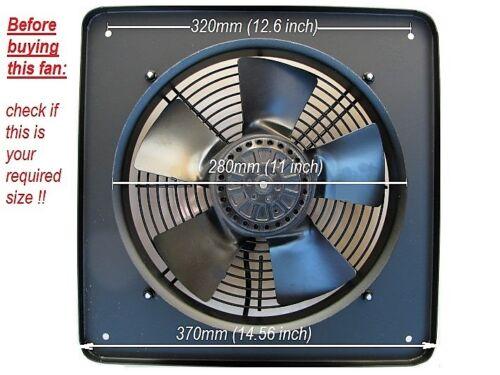 Industriel commercial Puissant Extracteur Ventilateur 250 mm 2300 tr//min 10 pouces 240 V
