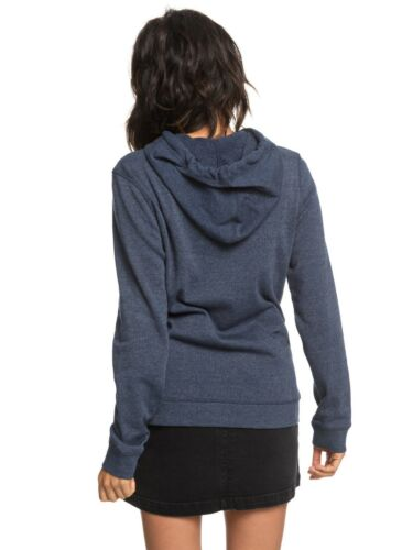 ROXY WOMENS HOODIE.NEW ANOTHER SCENE NAVY BLUE HOODY HOODED PULLOVER TOP 8W 6 BT