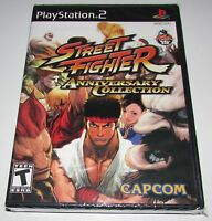 Street Fighter Anniversary Collection Playstation 2 Ps2 Factory Sealed