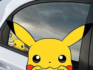 pokemon pikachu anime 7 window car decal sticker pokemon go ebay