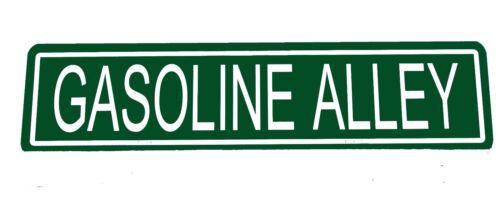 "Custom Metal Street Sign /""Gasoline Alley/""  6/""x24/""  Man Cave 41019"