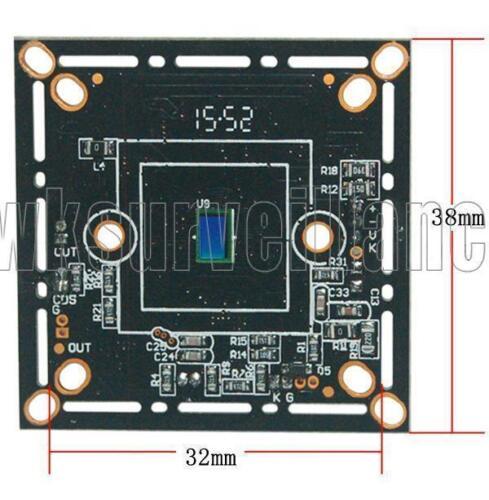 """AHD HD 720P 1.0mp 1//4/"""" AHD// TVI//CVI and CVBS CCTV Color Board Camera  O.S.D Menu"""