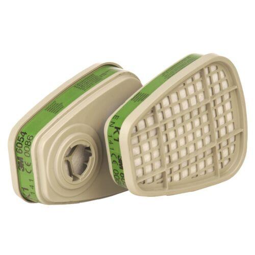 3M 6054 1 Paio di cartucce filtranti GAS VAPORI K1 mezza maschera protezione delle vie respiratorie