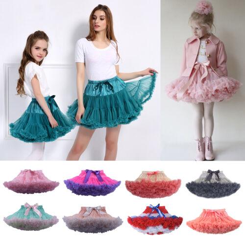 Baby Girls Ballet Tutu Skirt Dress Kids Adult Birthday Party Fluffy Dance Dress