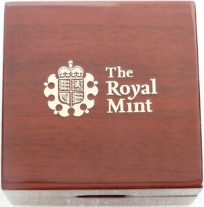 2014-2019-Royal-Mint-de-Lujo-Madera-Dorado-Prueba-Cuarto-Sovereign-Moneda-Caja