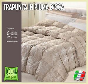 Trapunta Matrimoniale In Piuma.Trapunta In Piuma D Oca 4 Misure Matrimoniale Piazza E Mezza Singola