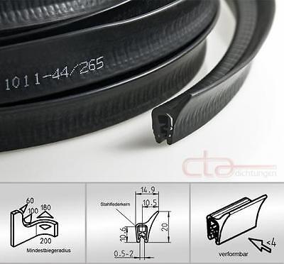 Auto & Motorrad: Teile 1 M Dichtungsprofil Dichtprofil Kantenschutz Epdm Schwarz Kb 0,5-2 Mm 1c11-44 Klar Und GroßArtig In Der Art
