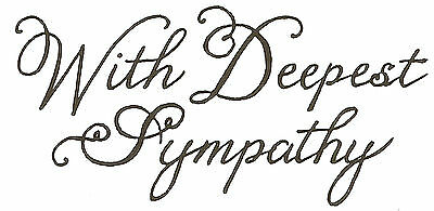 fancy script #23 Mounted rubber stamp With Deepest Sympathy