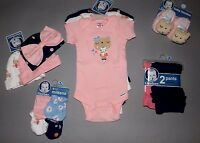 Baby Girl Clothes, 0-3 Months, Gerber Bodysuits,pants,hats,shoes,mittens/new Out