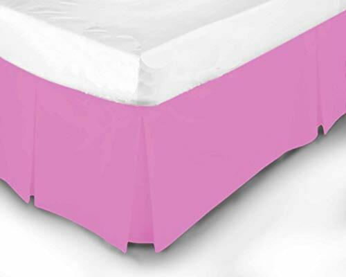 100/% Poly Cotton Plain Dyed  Platform Base Valance Box Pleated Sheet All Sizes