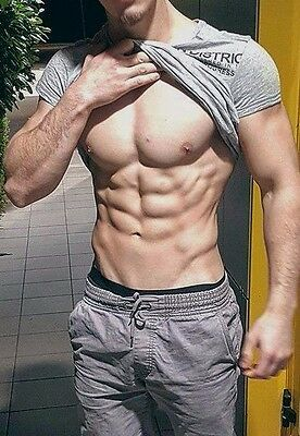 Shirtless Male Beefcake Muscular Physique Body Builder Huge Dude PHOTO 4X6 F1689