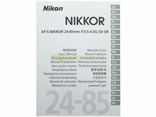 Manuale cartaceo originale x Nikon AF-S Nikkor 24/85mm. f3,5-4,5 G ED VR.